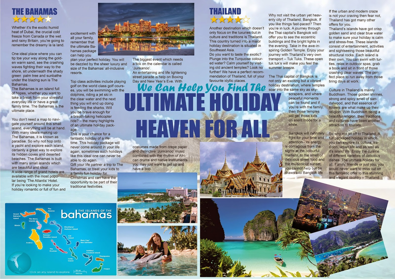 geeta s portfolio 2014 here is an example of one my creative writing piece i created a holiday brochure page which has the purpose to persuade and inform reader to two