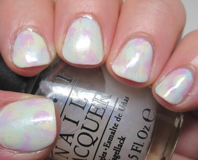 Abstract brushstroke with L'Oreal pastels and OPI I Juggle..Men