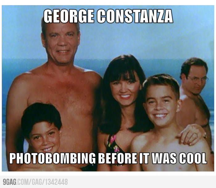 George Costanza photobomb