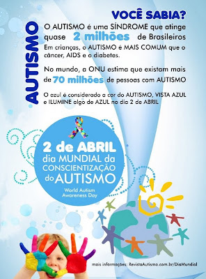 Dia Mundial do Autismo - 02 de Abril