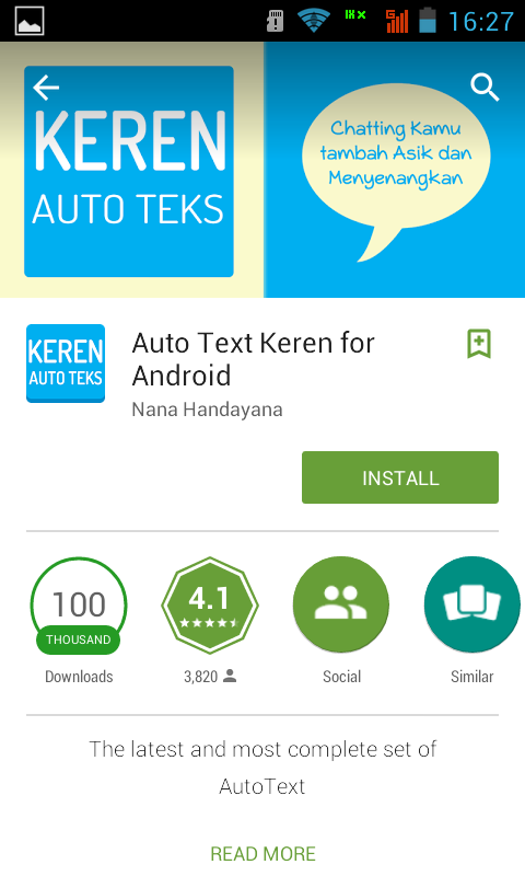 Aplikasi Android Terbaru 2015 - Autotext Keren