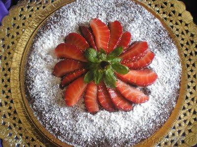pastel, tarta, bizcocho, almendras, dulce