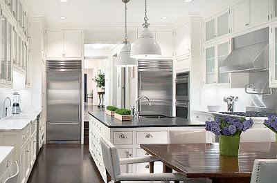 hermosa cocina blanca