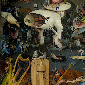 "Detail from Hieronymus Bosch's ""The Garden of Earthly Dlights"""