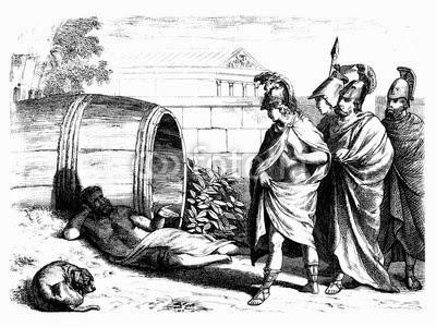 Alexandre rencontrantt Diogène