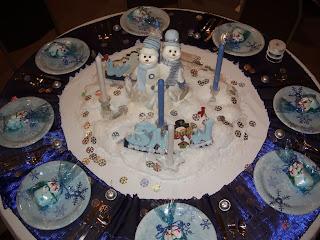 Decoracion de Mesas Navideñas Color Azul, parte 2