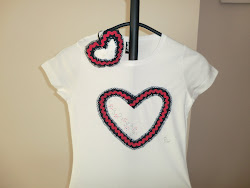 Camiseta + tocado dulce corazón marino