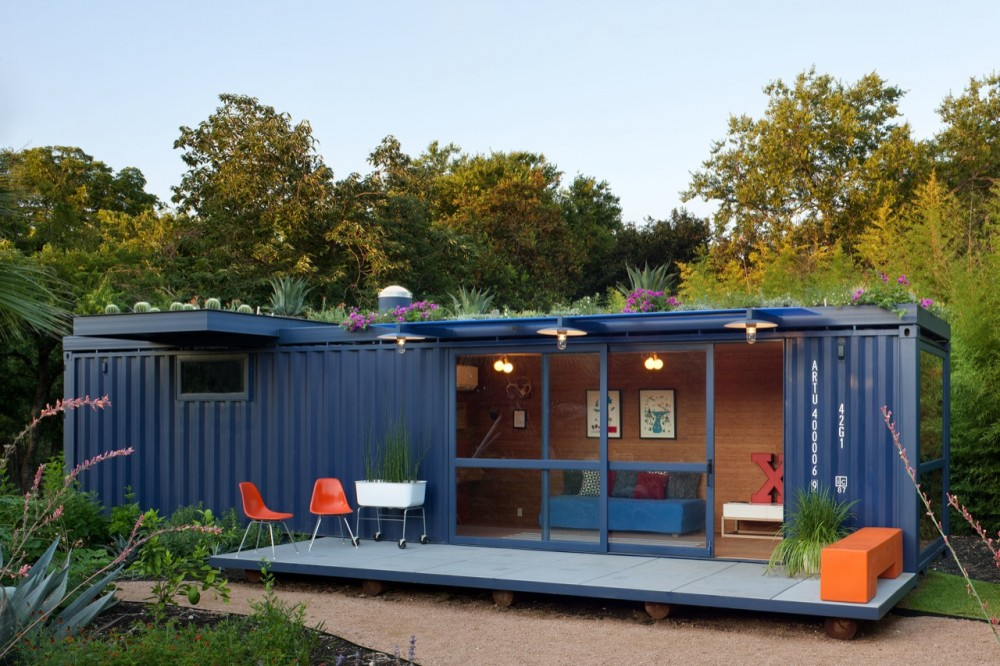 Shipping Container Homes: Poteet Architects Container Guest House