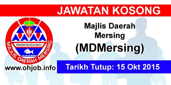 Jawatan Kerja Kosong Majlis Daerah Mersing (MDMersing) logo www.ohjob.info oktober 2015