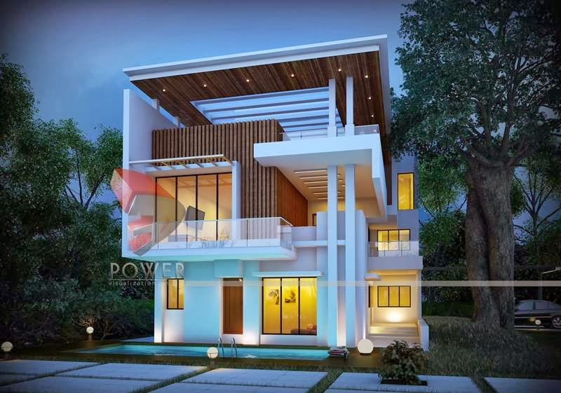 3d power provides quality bungalow 3d rendering modern bungalow ...