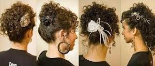 Penteados Cabelos Cacheados Simples