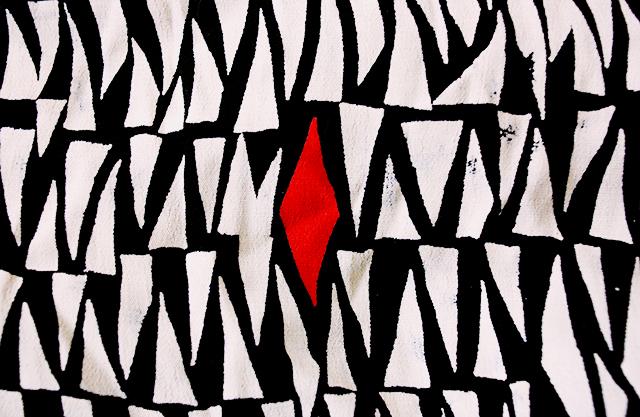 triangle pattern fabric
