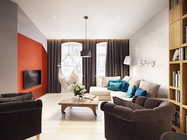 Modern Apartment Decor Ideas With Bold Geometric Colors | Homesigner