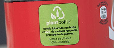 coca cola plantbottle