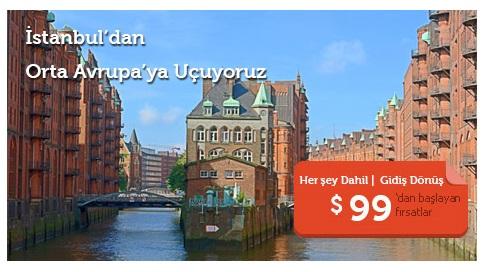 Avrupa Uçak Bilet Kampanya