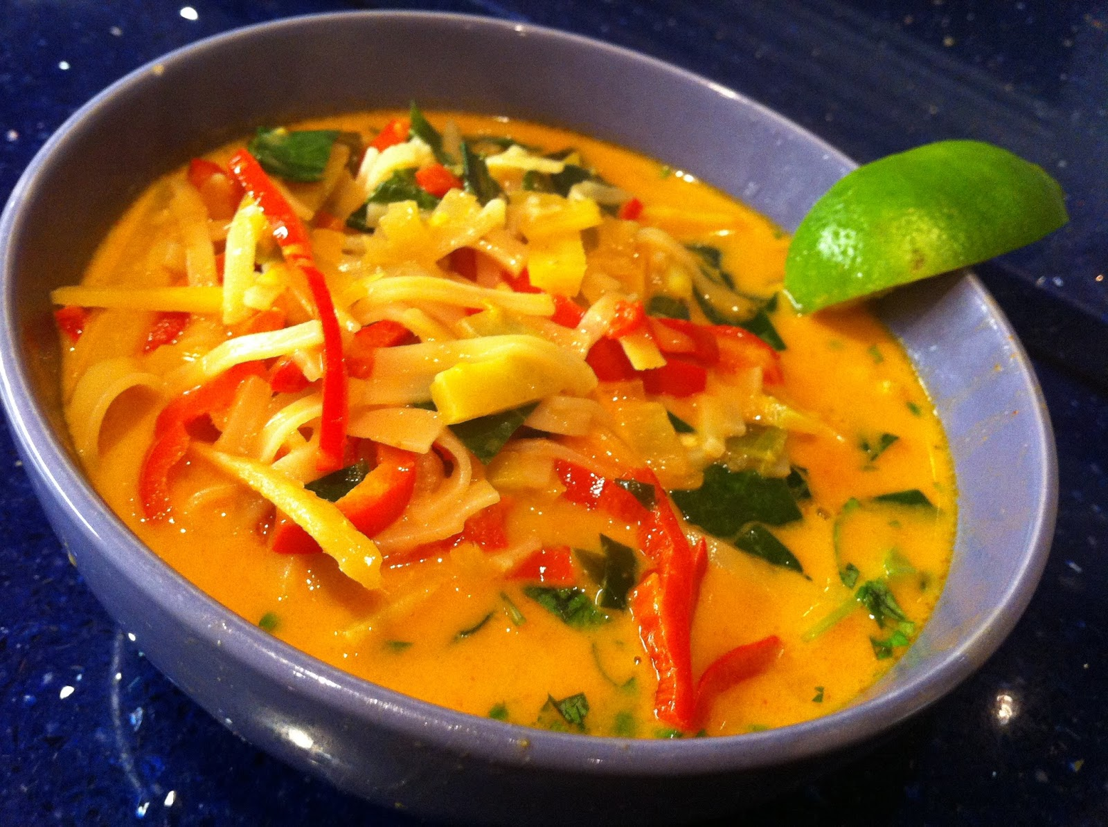 Serve and enjoy this easy soup recipe – Thai Curry Soup recipe