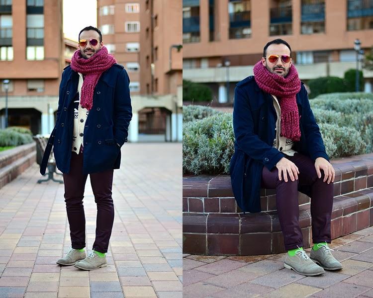 foto calcetines verdes hombre