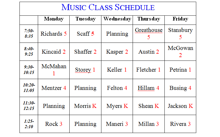 Mrs endicott 39 s music room class schedule for Redwood room live music schedule