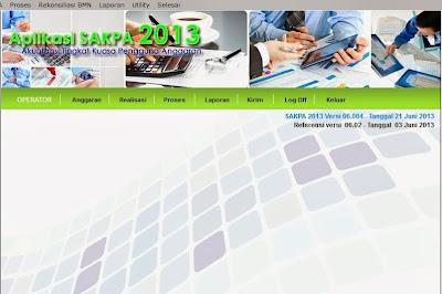aplikasi sakpa 2013