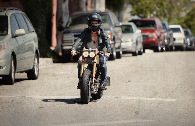Katee Sackhoff's  Custom Honda KT600  by Classified Moto