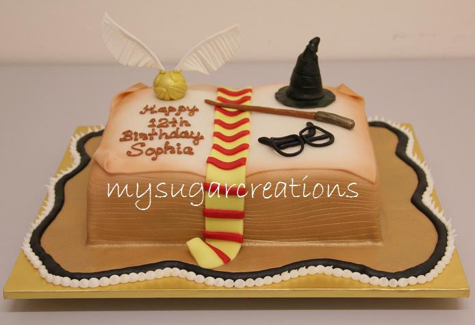 Free Cake Design Books : My Sugar Creations (001943746-M): Harry Potter Open Book Cake