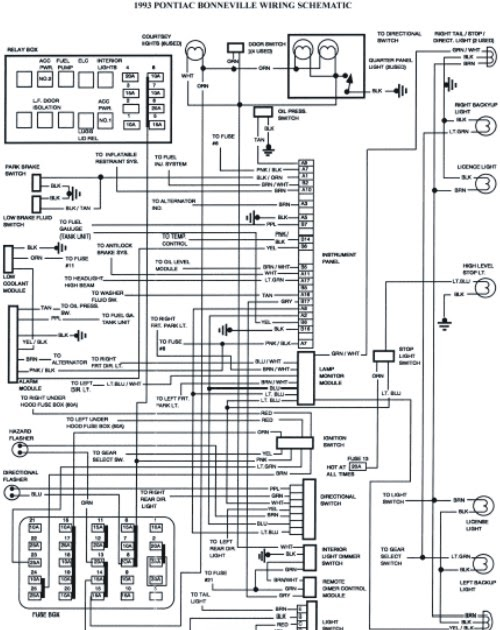 1993 pontiac bonneville schematic wiring diagrams schematic wiring diagrams solutions