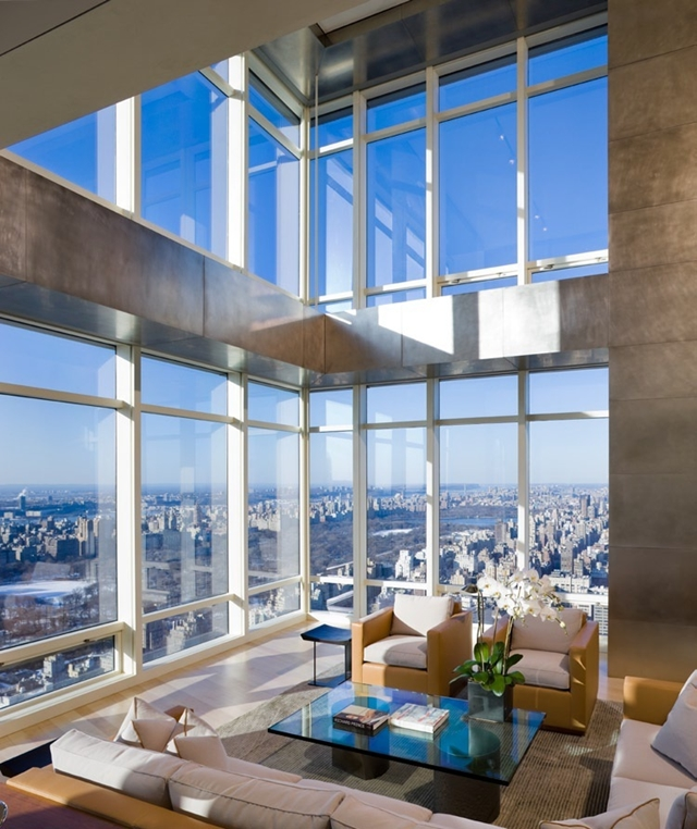 Photo of living room in one of the best penthouses on top of Bloomberg Tower
