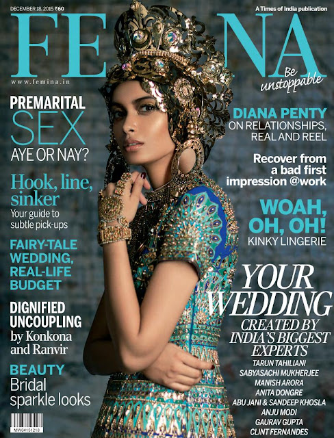 Diane Penty on Femina India December 2015