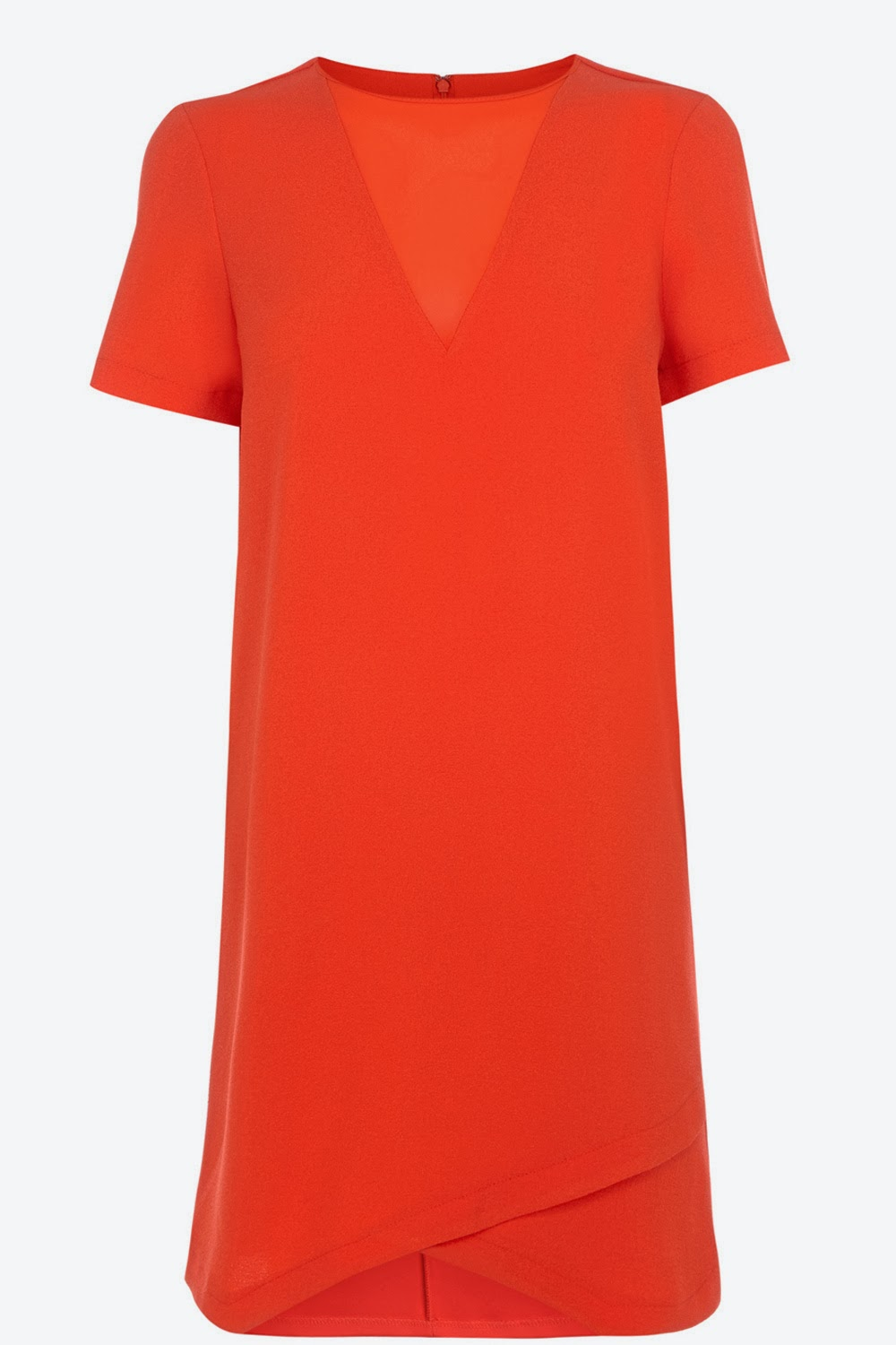 warehouse orange dress