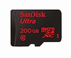 Kartu MicroSD 200GB SanDisk