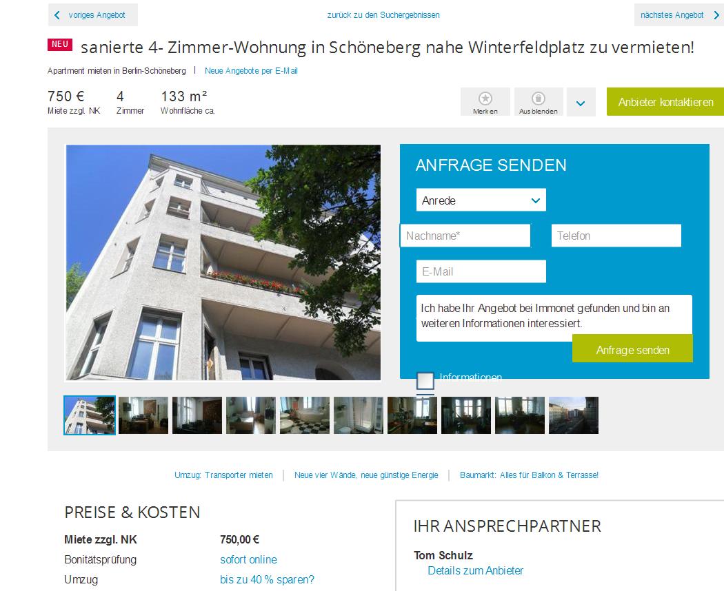 Schön Baumarkt Berlin Schöneberg Das Beste Von Tom.1077@web.de Alias Tom Schulzsanierte 4- Zimmer-wohnung In