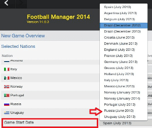 Football Manager Game Start Date