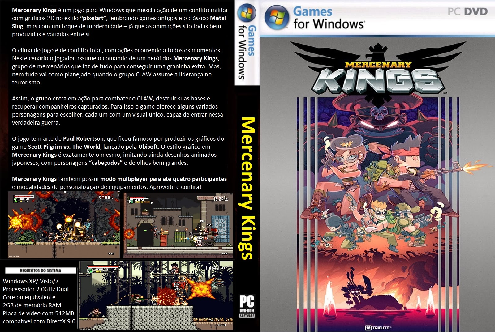 Mercenary Kings PC DVD Capa