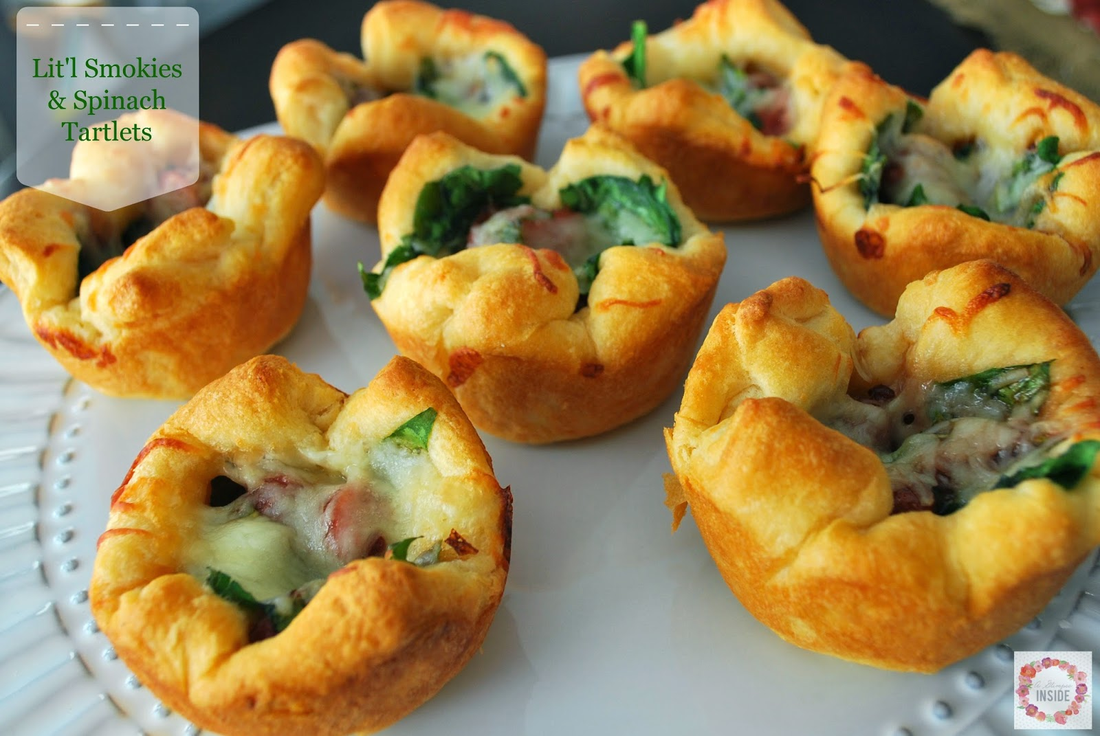 http://www.aglimpseinsideblog.com/2014/10/litl-smokies-and-spinach-tartlets.html