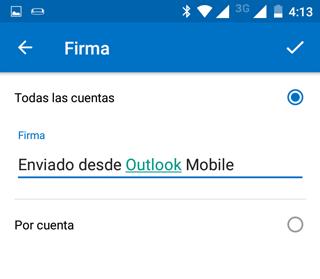 Crear firma de correo separada por cuentas [Outlook Movil]
