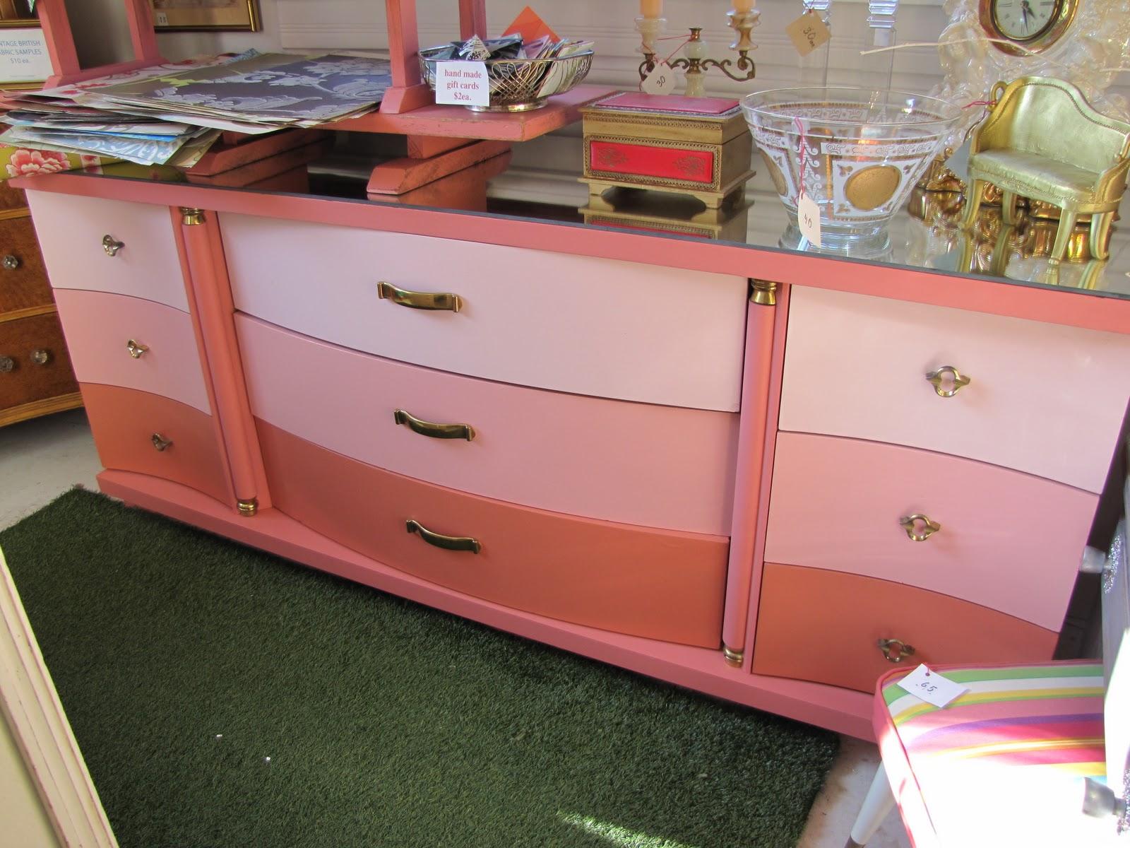 Chic Antique's multi-pink-Chic-da-fied Vintage Dresser title=