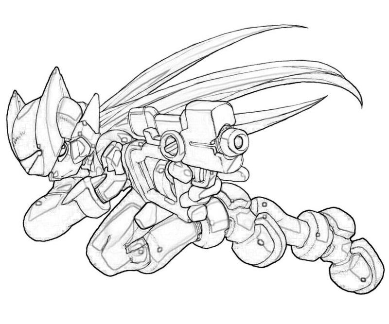free coloring pages of zero mega man