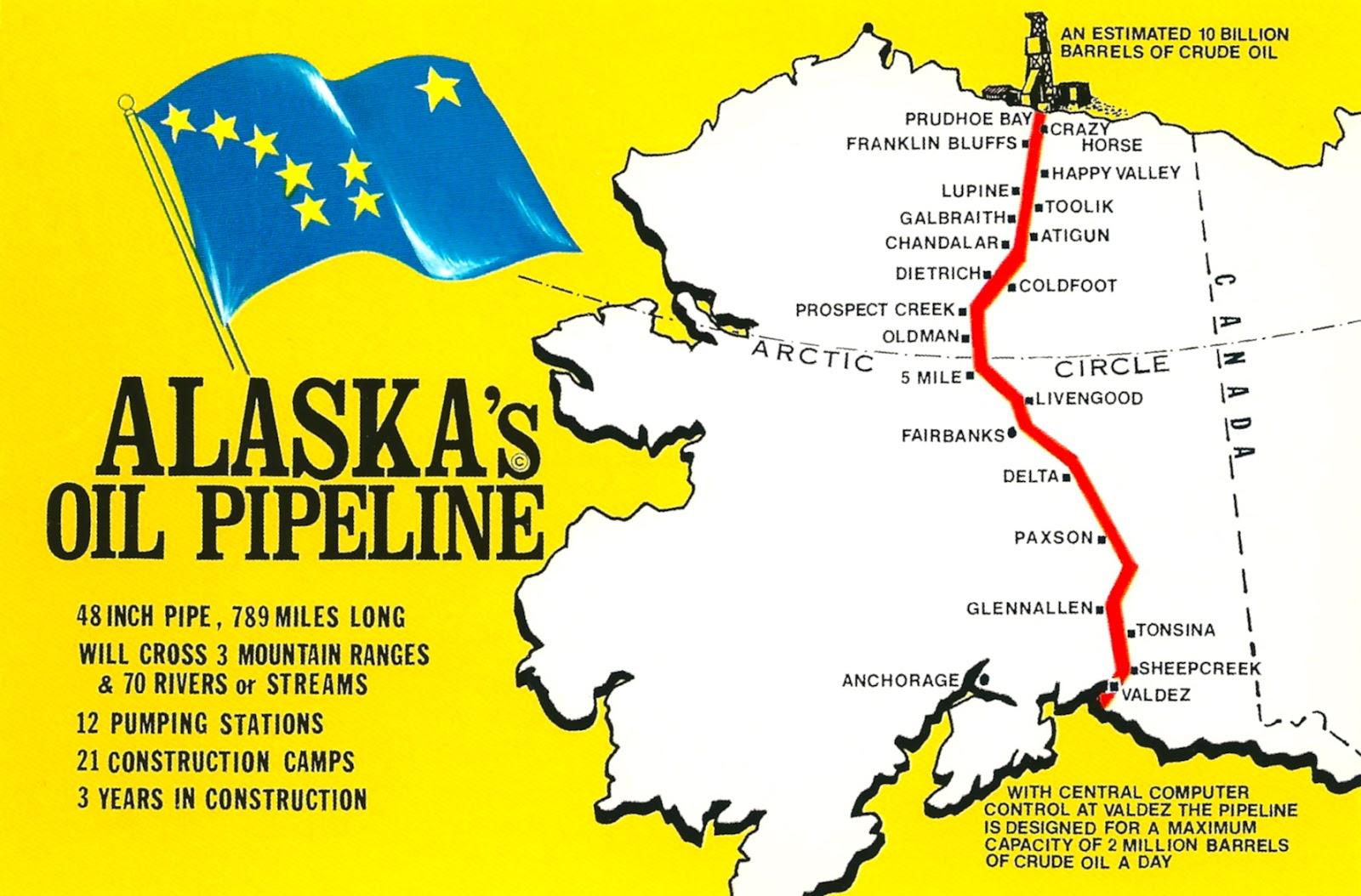 My Favorite Postcards: Great Trans-Alaska Pipeline in Alaska