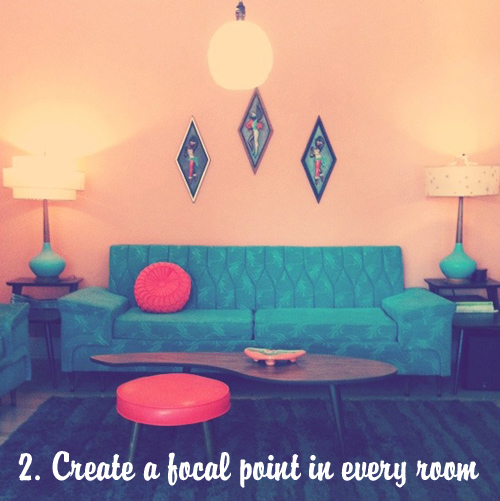 tips for decorating your retro modern home - 60s Home Decor