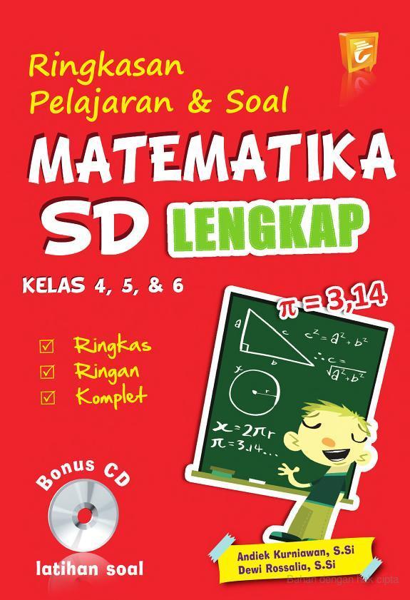 Judul Ringkasan Pelajaran & Soal Matematika SD Kelas 4, 5, & 6 Lengkap