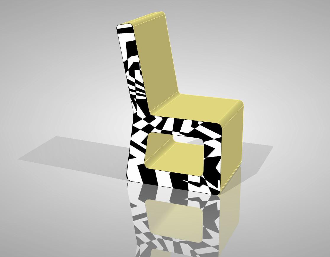 Lotto di originali sedie di design in cartone eur