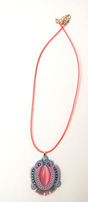 sutasz naszyjnik wisior soutache pendant necklace 26a