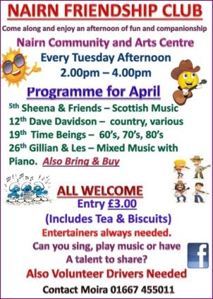 Friendship Club April