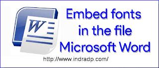Cara Menyertakan Font Saat File Microsoft Word Disimpan