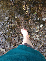 Water Feet Walking Barefoot