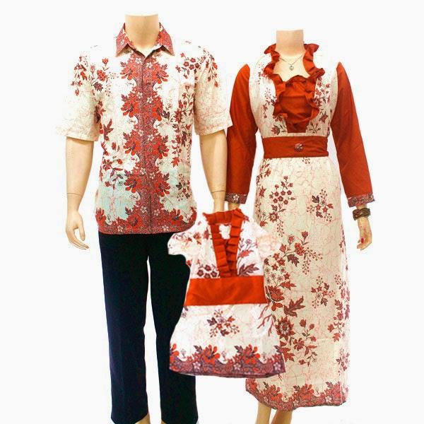 SK041 Model Baju Sarimbit Batik Modern Terbaru 2014