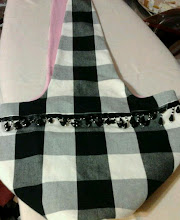 Black & White Checkered Tote