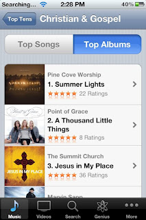 Summer Lights Number 1 on iTunes