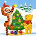 Fondo: Árbol de Navidad con Winnie The Poo