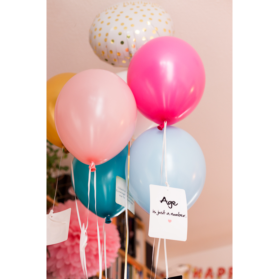 mojosanti zwei kleine deko ideen mit ballons f r eine geburtstagsparty i birthday decoration. Black Bedroom Furniture Sets. Home Design Ideas
